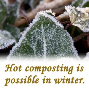 Hot composting in winter.