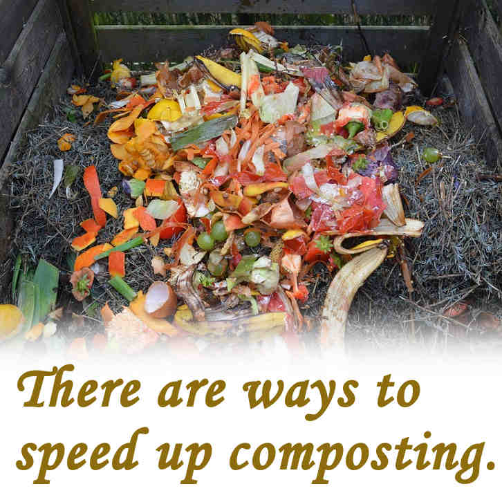 How do you speed up composting.