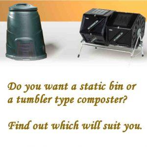 Tumbler composter vs bin