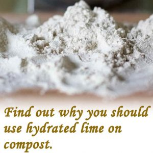What does lime do to compost?