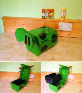 Green piglet