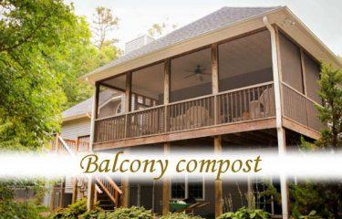 Balcony compost