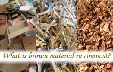 What is brown material in compost?
