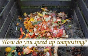 How do you speed up composting?
