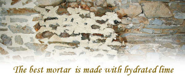 Why is hydrated lime used in mortar?
