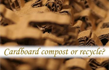 Cardboard compost or recycle?