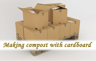 Making compost with cardboard