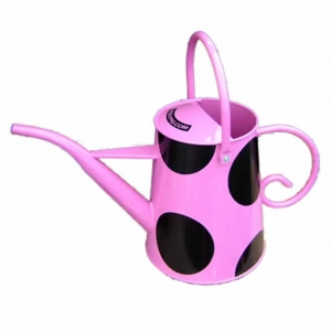 Pink straight-spout watering can by Rolypig