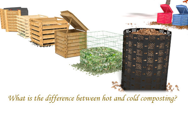 What is the difference between hot and cold composting?