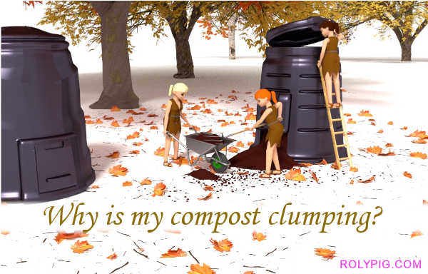 Why is my compost clumping?