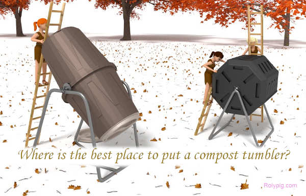 Where is the best place to put a compost?