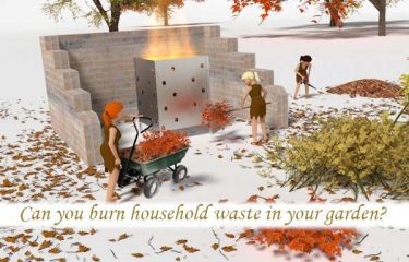 Can you burn household waste in your garden?
