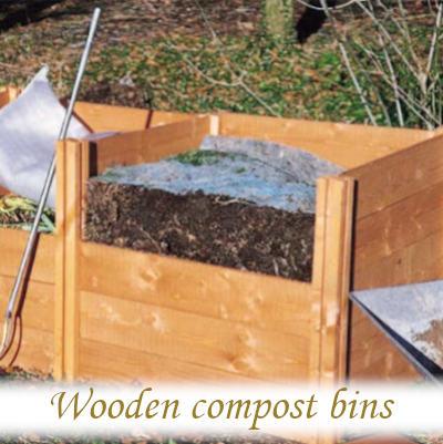 Wooden compost bins