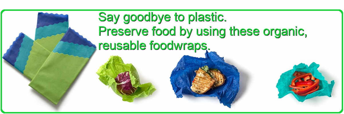Stop using plastic. Use these reusable foodwraps.