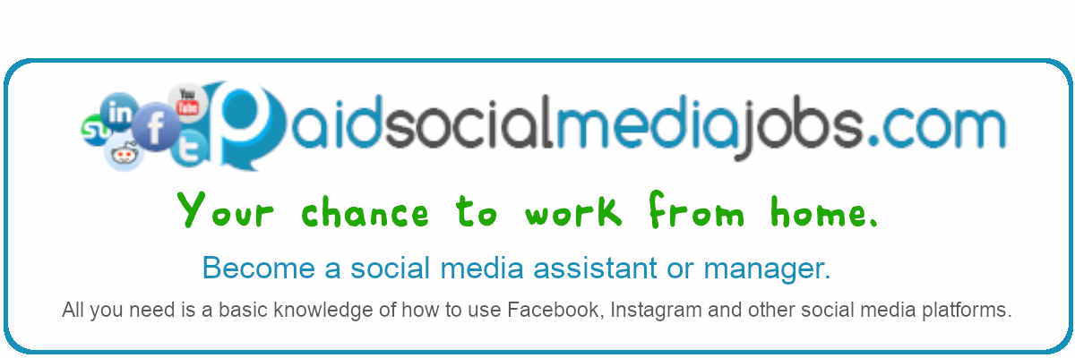 Work from home as a social media assistant or manager.