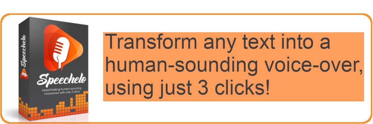 Turn speech to text using 3 clicks.