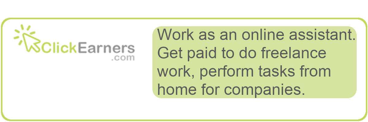 Get paid as an online assistant.