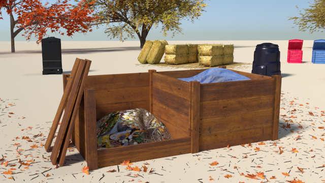 Compost bins_Modular wood