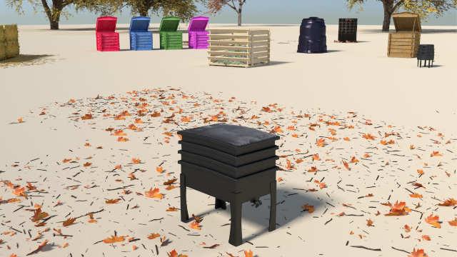 Compost bins_worm cafe